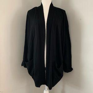 Chelsea28 open black cardigan sweater small